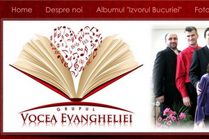 Site al grupului vocal-instrumental crestin Vocea Evangeliei